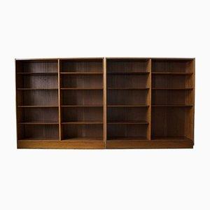 Danish Rosewood Shelves by Poul Hundevad for Hundevad & Co., 1960s, Set of 2