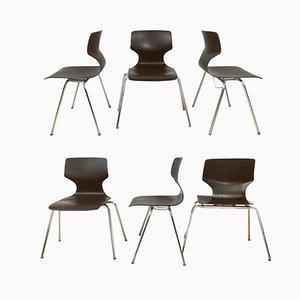 Stapelbare Esszimmerstühle von Flötotto, 1960er, 6er Set