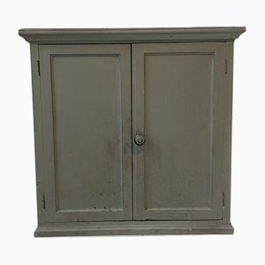Patinated Wall-Mounted Workshop Cabinet, 1950s