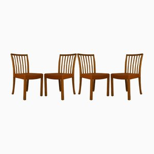 Mid-Century Oak & Goatskin Dining Chairs from Thorald Madsen Snedkeri, Set of 8