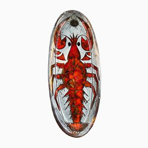 Lobster Ceramic Dish by Monique Brunner for Vallauris, 1950s