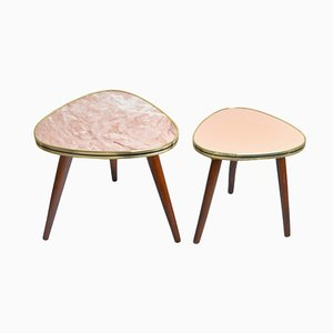 Mid-Century German Kidney Side Tables, Set of 3