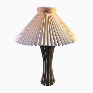 Scandinavian Modern Black & White Ceramic Table Lamp, 1970s