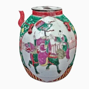 Chinese Kangxi Dynasty Enamelled Porcelain Teapot