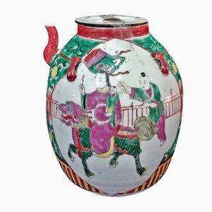Chinesische Kangxi Dynastie Porzellan Teekanne aus Emaille