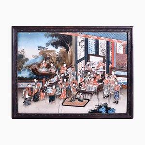Chinesische Malerei auf Glas, 19. Jahrhundert