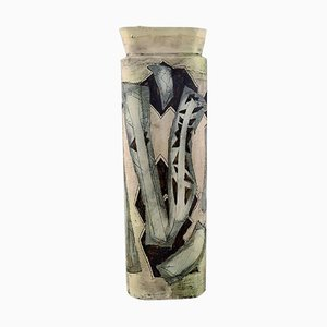 Vase with Hand-Painted Abstract Motifs