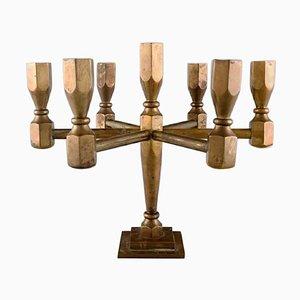 Gusum Metall Kerzenständer aus Messing von Seven Candles, 1960er