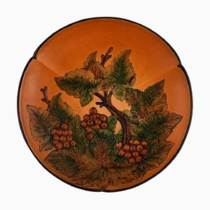 Circular Dish With Berries and Foliage from Ipsens, 1920s