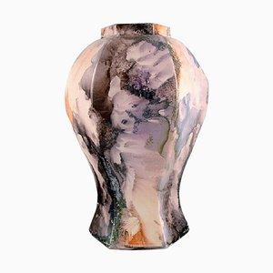Art Deco Vase In Glazed Ceramics from Rörstrand, 1920s