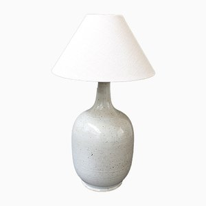 Vintage French Ceramic Table Lamp by Poterie Du Soleil, 1980s