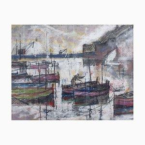 Der Hafen von Nizza von Alfred Salvignol, 1951