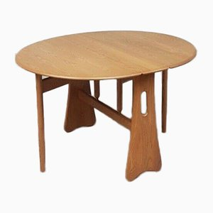 Mid-Century Extendable Drop Leaf Dining Table