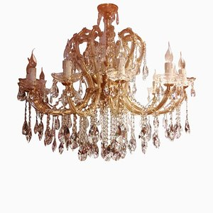 Large Maria Theresa Twenty-Light Chandelier, Italy, 1960s
