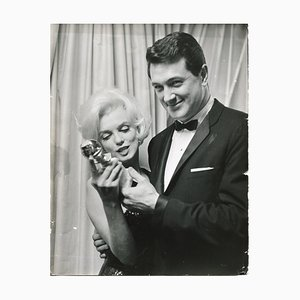 Marilyn Monroe Winning the Golden Globe Photograph, 1950s