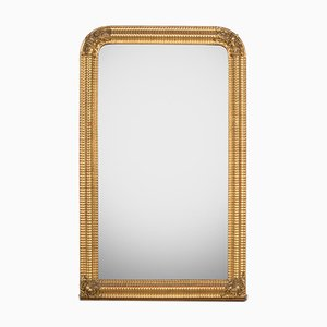 Golden Ribbed Flower Mirror