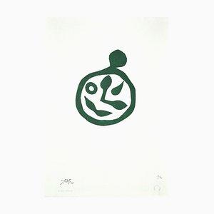 Jean Arp - The Clock - Gravure sur Bois sur Carton - Fin 20ème Siècle