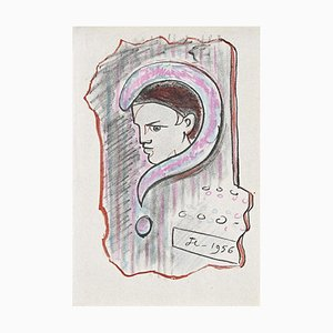 Jean Cocteau - Young Boy - Lithografie - 1956