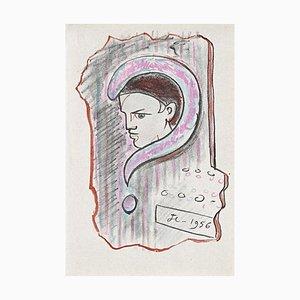 Jean Cocteau - Young Boy - Litografia - 1956