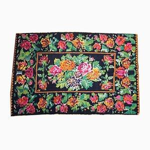 Floraler Handgewebter Teppich
