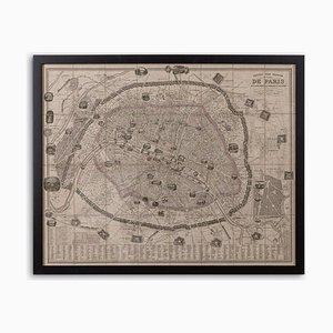 Map of Paris, 1852