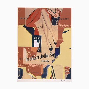 Sérigraphie et Collage par Mimmo Rotella, The Sock Lady