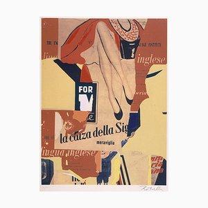 Siebdruck und Collage von Mimmo Rotella, The Sock Lady