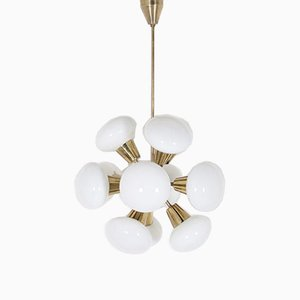 Sputnik Brass Chandelier with 12 Lights