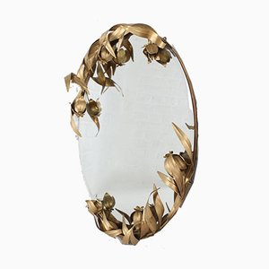 Wall Mirror with Plant Decoration
