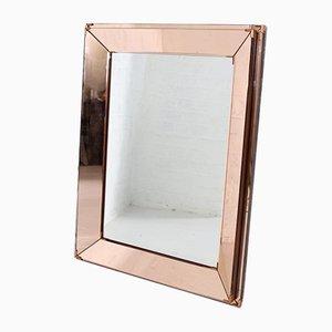 Spiegel mit Glasperlen von Jacques Adnet