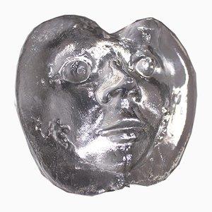 Gesicht aus Kristallglas von René Julien & Val Saint Lambert