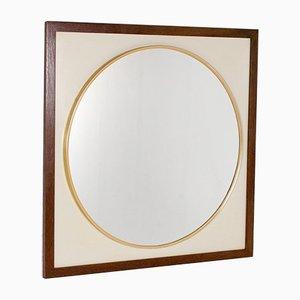 Round Wenge Mirror