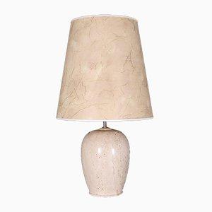 Lampe aus Travertin, 1970er