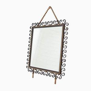 Angeschrägter Spiegel aus Schmiedeeisen