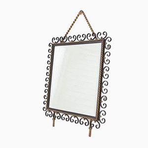 Beveled Mirror in Wrought Iron