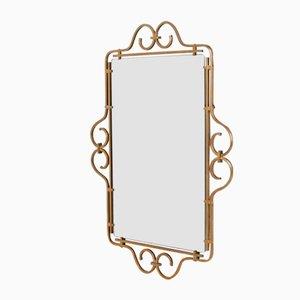 Brass Beveled Wall Mirror