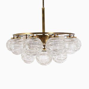 Snowball Brass & Glass Chandelier