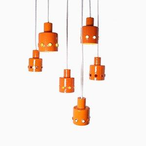 Orange Enamel Pendant