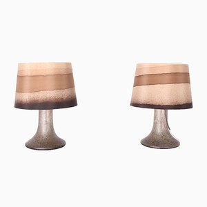 Blown Glass Lamps, 1970s, Set of 2