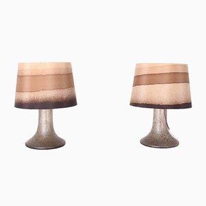Lampen aus Geblasenem Glas, 1970er, 2er Set