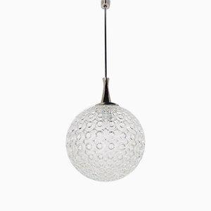 Glass Globe Suspension Lamp, 1970s