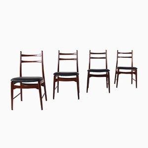 Scandinavian Rosewood Chairs, 1960s, Set of 4