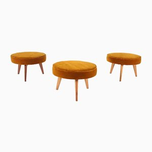 Tripod Ottomans, Set of 3