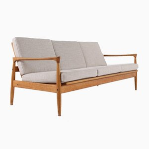 Danish 3-Seater Blond Oak Bench