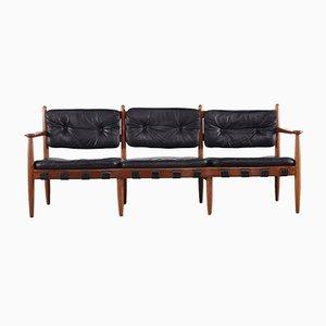 Black Leather Cadett Bench by Eric Merthen for RE Möbler