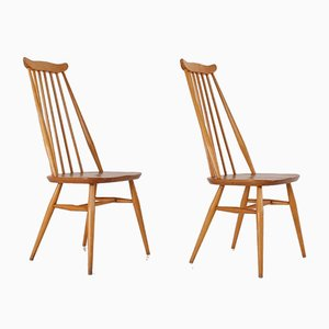 Chaises en Hêtre par Ercol Goldsmith, 1960s, Set de 2