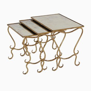 Nesting Tables by René Drouet, Set of 3