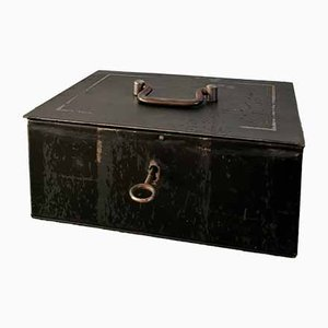 Vintage Metal Cash Box, 1940s