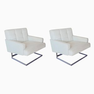 Mid-Century Modern Leather Lounge Chairs, 1960s, Set of 2