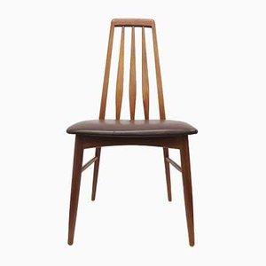 Teak & Leather Eva Dining Chairs by Niels Koefoed for Koefoeds Hornslet, 1960s, Set of 4